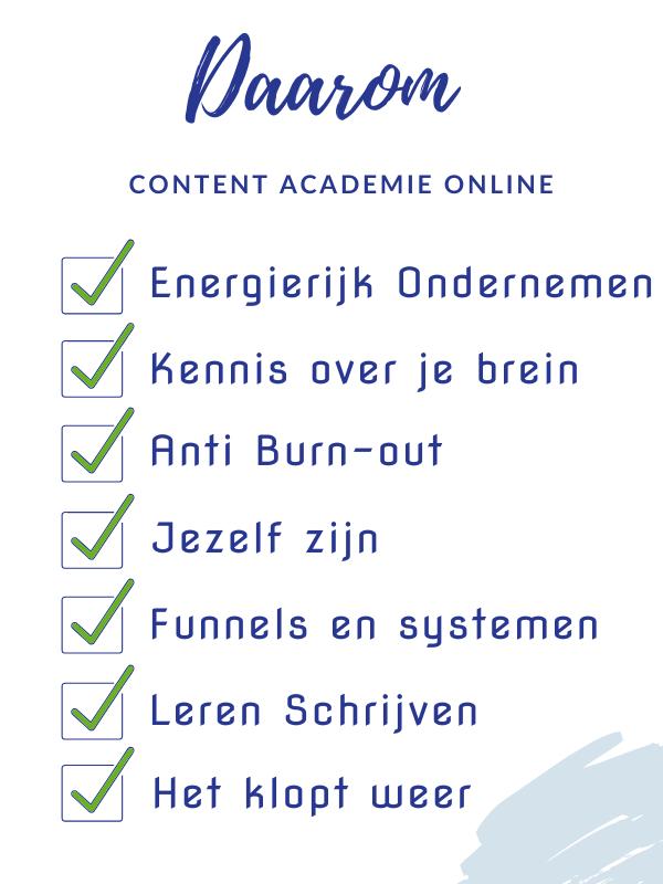 Daarom content Academie